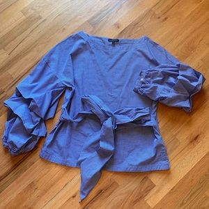 Banana Republic long tucked sleeve blouse size XL